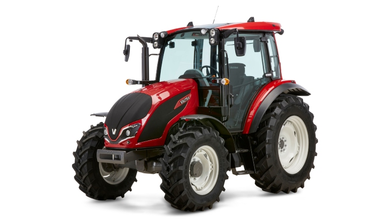 Valtra A Series red tractor in studio